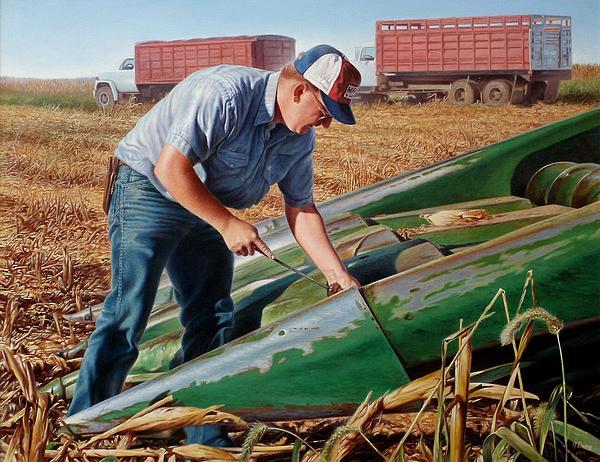 Corn Painting - Corn Harvest by Hans Droog
