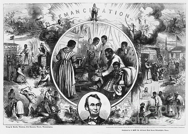 Historical Photograph - Effects Of Emancipation Proclamation by Photo Researchers