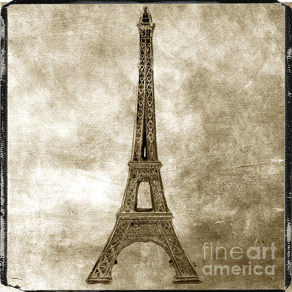 Texture Photograph - Eiffel Tower. Paris by Bernard Jaubert