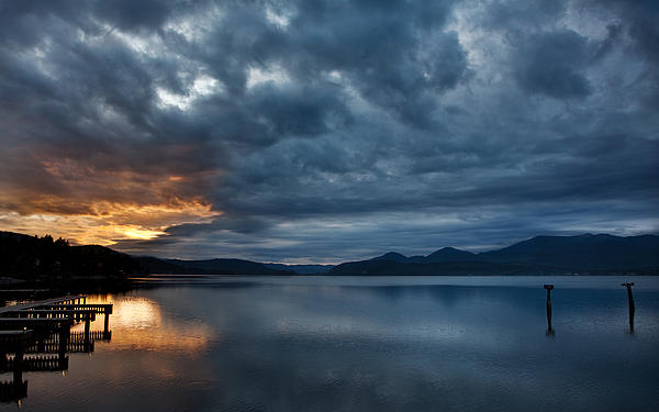 Sandpoint Photograph - Fall Sunset Over Lake Pend Oreille by Marie-Dominique Verdier