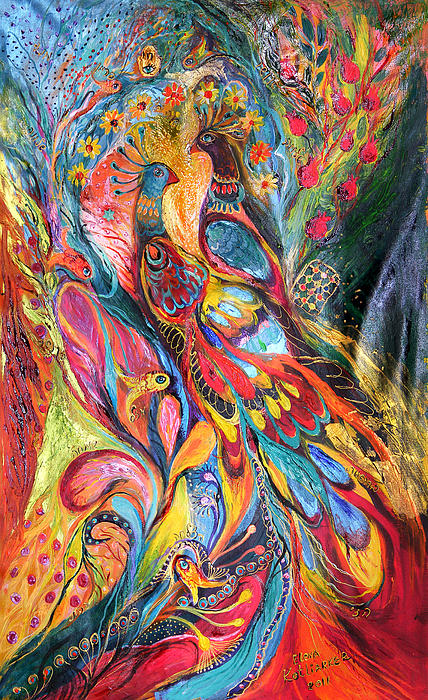 Original Painting - Falling In Love by Elena Kotliarker