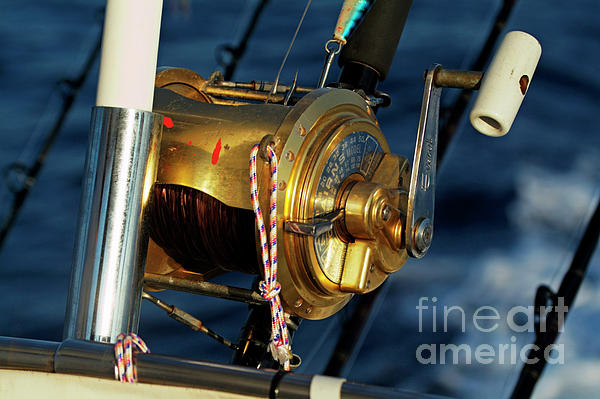 Boat Photograph - Fishing Rods by Sami Sarkis