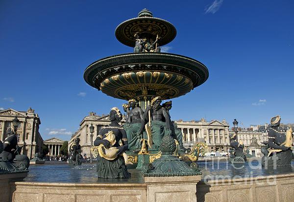 Paris Photograph - Fountain At Place De La Concorde. Paris. France by Bernard Jaubert