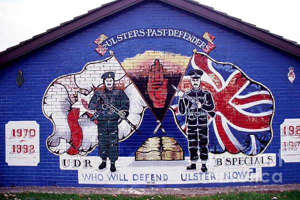 Newtownards Road Photograph - Freedom Corner Mural by Thomas R Fletcher