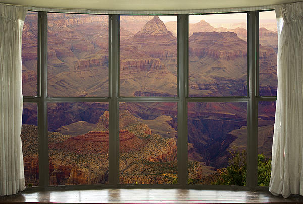 'window Canvas Wraps' Photograph - Grand Canyon Springtime Bay Window View by James BO  Insogna