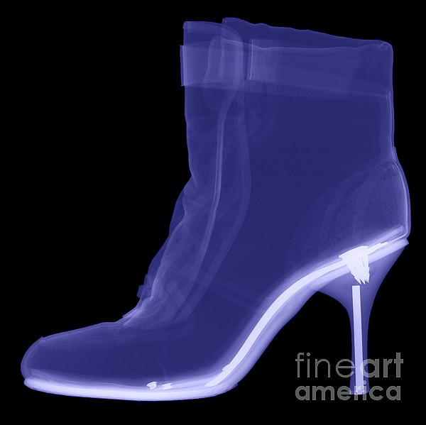 Radiograph Photograph - High Heel Boot X-ray by Ted Kinsman