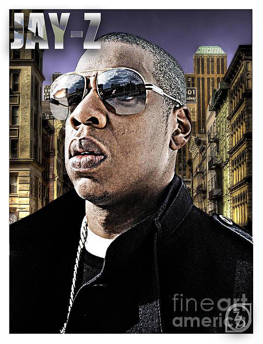 Jay Z Digital Art - Jay Z by The DigArtisT
