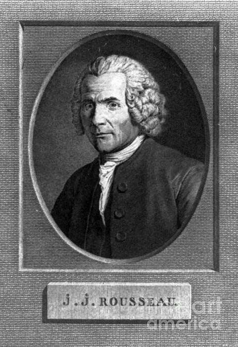 Education Photograph - Jean-jacques Rousseau, Swiss Philosopher by Photo Researchers