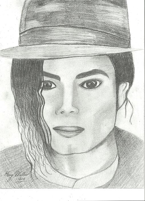 Mj Drawing - King Of Pop by Gary Miller