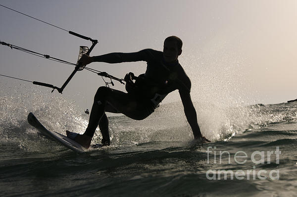 Kitesurfing Photograph - Kitesurfing Board by Hagai Nativ