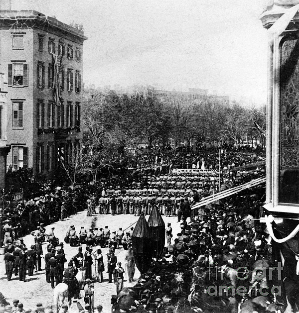 History Photograph - Lincolns Funeral Procession, 1865 by Photo Researchers