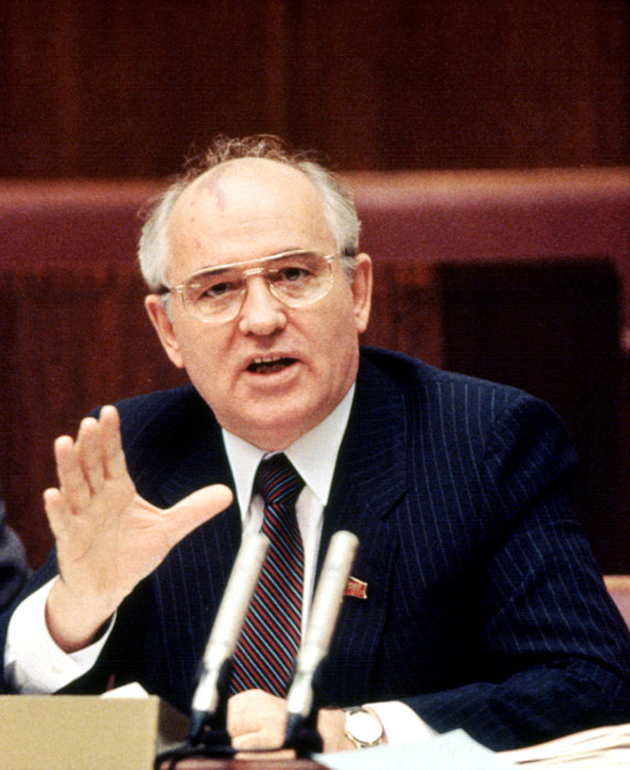 Eyeglasses Photograph - Mikhail Gorbachev During His Presidency by Everett