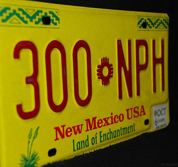 New Mexico Photograph - New Mexico Tag by Rob Hans