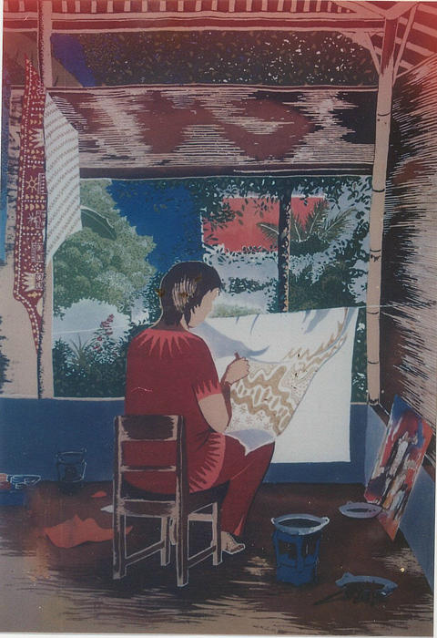 People Tapestry - Textile - Of Me By Me by Elisabeth Van der Horst