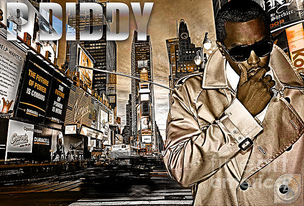 Puffy Digital Art - P Diddy by The DigArtisT