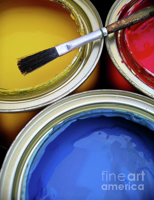 Background Photograph - Paint Cans by Carlos Caetano