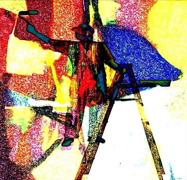 Painter Photograph - Painter Painting by Karen Conine