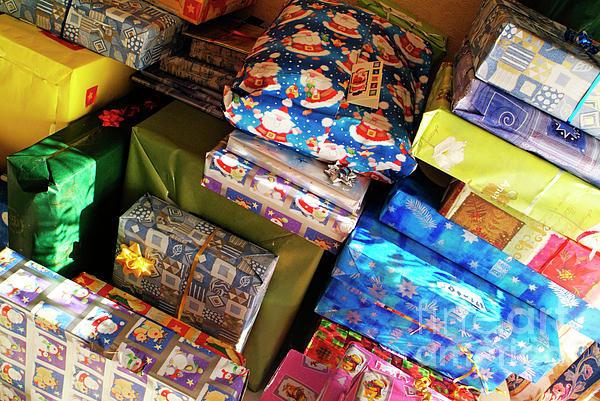Celebration Photograph - Pile Of Christmas Presents by Sami Sarkis
