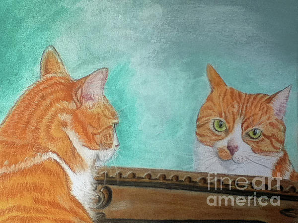 Cat Pastel - Pretty Kitty by Teresa Vecere