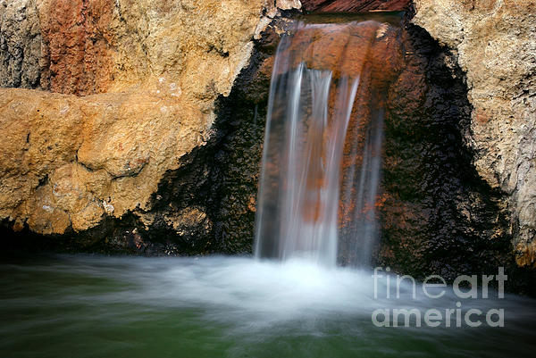 Autumn Photograph - Red Waterfall by Carlos Caetano