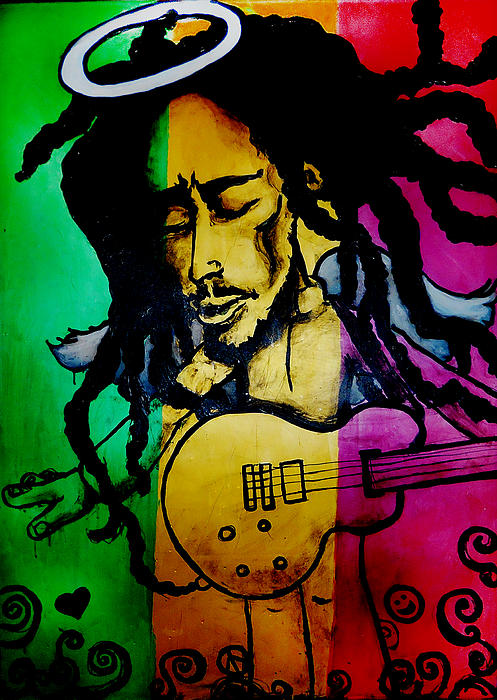 Bob Marley Painting - Saint Marley by Asa Charles
