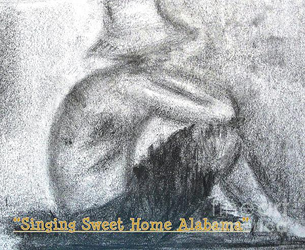 Boy Drawing - Singing Sweet Home Alabama by Helena Bebirian