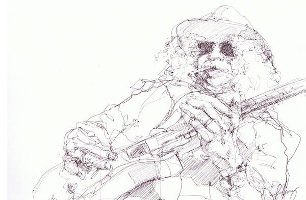 Slash Drawing - Slash by Bobby LeVangie