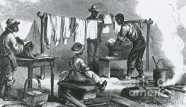 America Photograph - Slaves In Union Camp by Photo Researchers