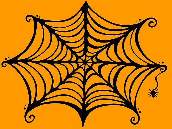 Spider Web Drawing - Spiders Web by Mandy Shupp