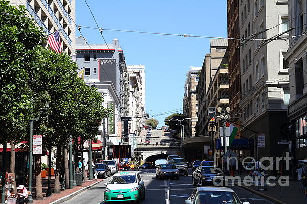 San Francisco Photograph - Stockton Street Tunnel In San Francisco by Wingsdomain Art and Photography