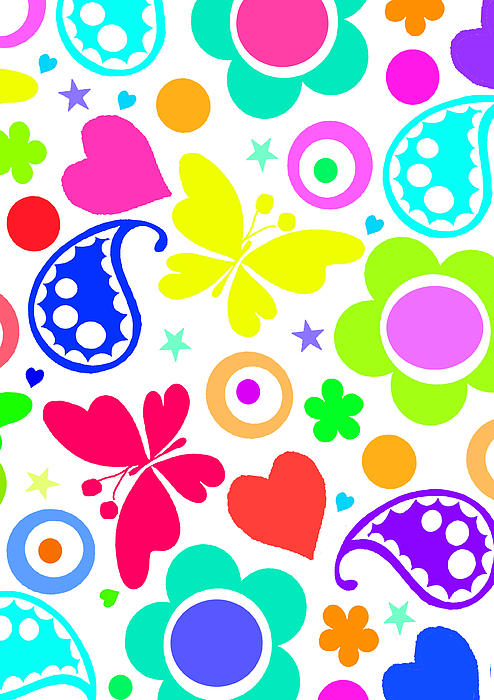Heart Painting - Summer Fun by Louisa Knight
