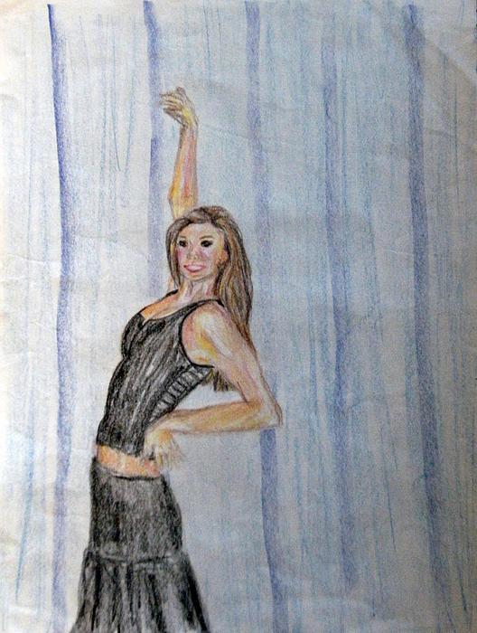 Stripes Drawing - Taylors Haunting by Jana Barros