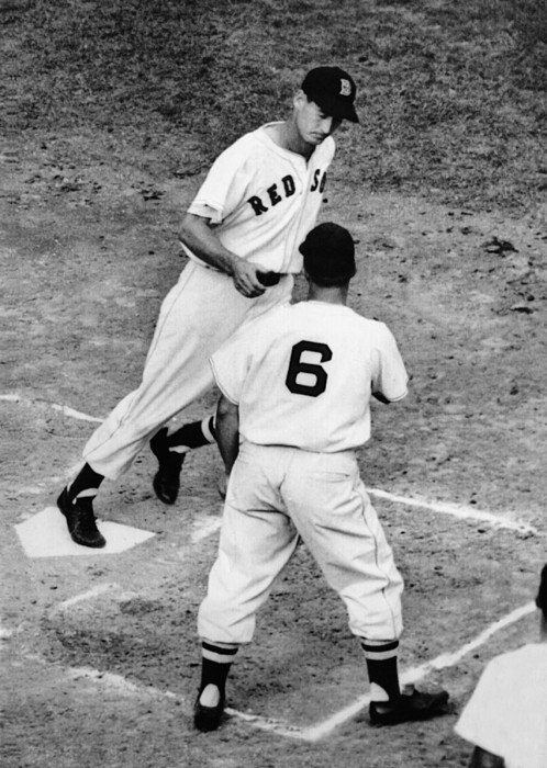 1940s Candid Photograph - Ted Williams Of The Boston Red Sox by Everett