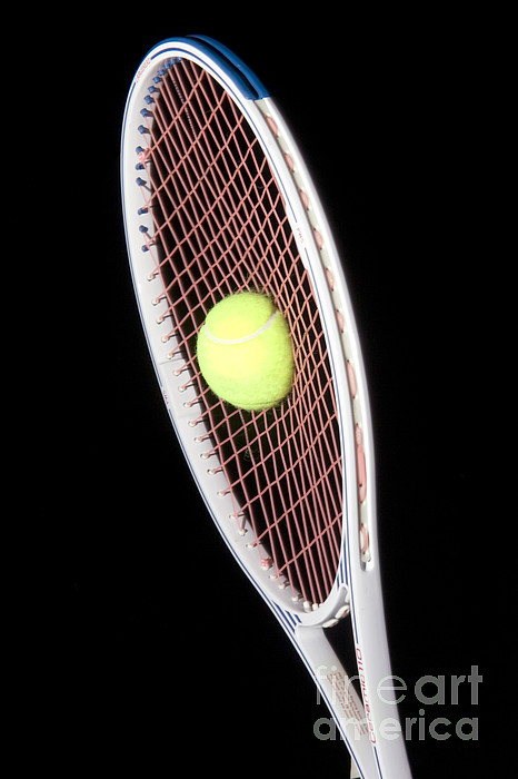 Stroboscopic Photograph - Tennis Ball And Racket by Ted Kinsman