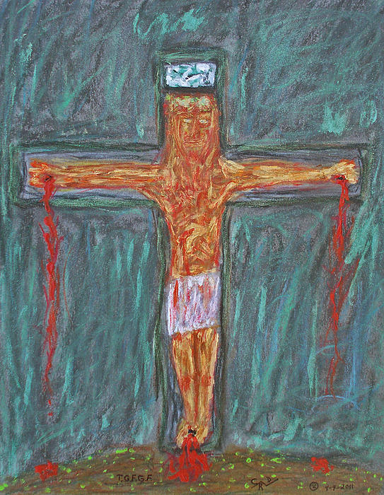 Abstract Drawing - Thank  God  For  Good  Friday by Carl Deaville