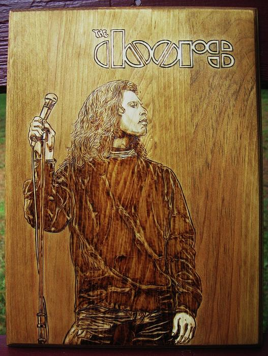 The Do0rs Pyrography - The Doors by Bob Renaud