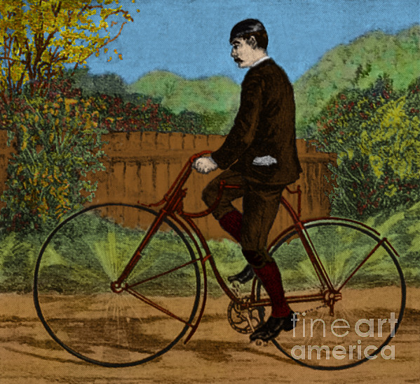 Bicycle Photograph - The Rover Bicycle by Science Source