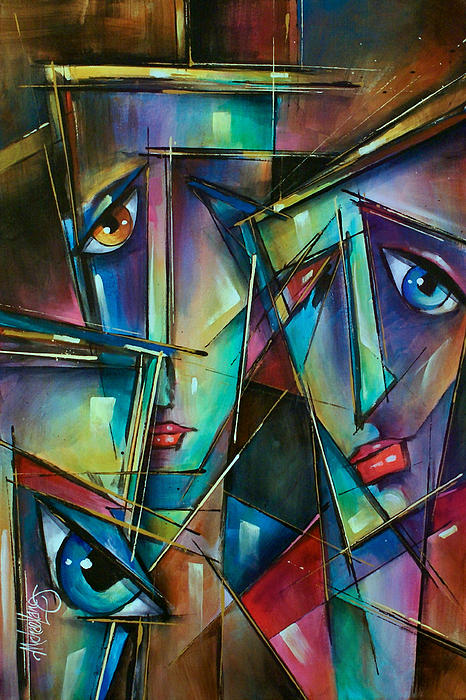 Portrait Painting - Trio by Michael Lang