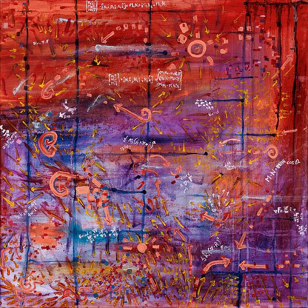 Vector Painting - Vector Field by Regina Valluzzi