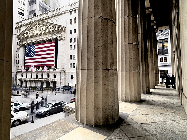 Outdoors Photograph - Wall Street And The New York Stock by Justin Guariglia