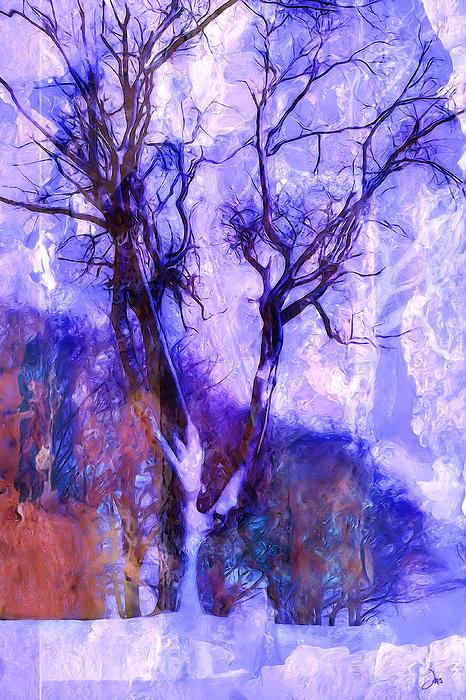 Winter Digital Art - Winter Tree by Ron Jones