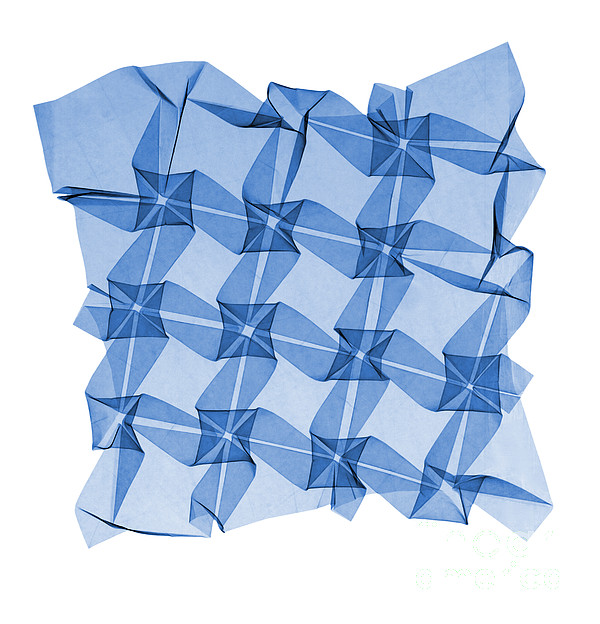 Origami Photograph - X-ray Of Mathematical Origami by Ted Kinsman