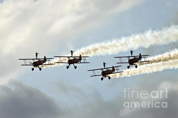 Airshow Photograph - Wingwalkers by Angel Ciesniarska