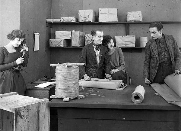 -offices- Photograph - Silent Film Still: Offices by Granger