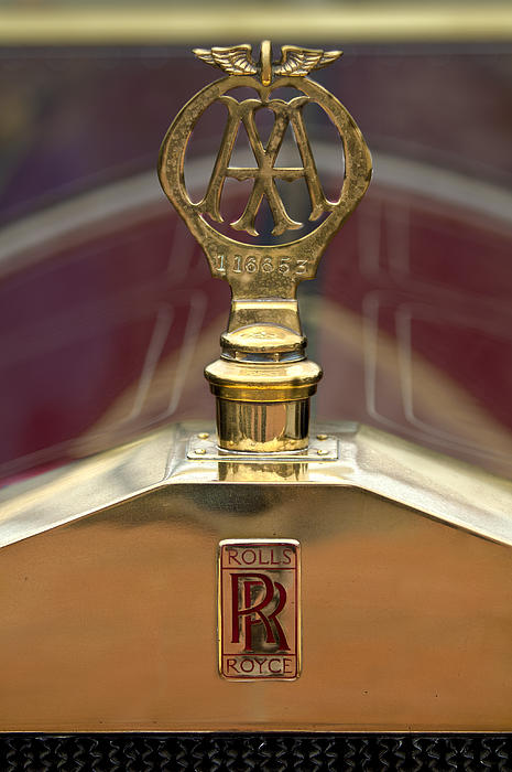 Hood Ornament Photograph - 1910 Rolls-royce Silver Ghost Balloon Hood Ornament by Jill Reger