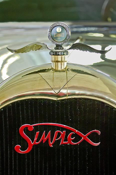 Pebble Beach 2011 Photograph - 1916 Crane-simplex Model 5 Seven-passenger Touring Hood Ornament by Jill Reger