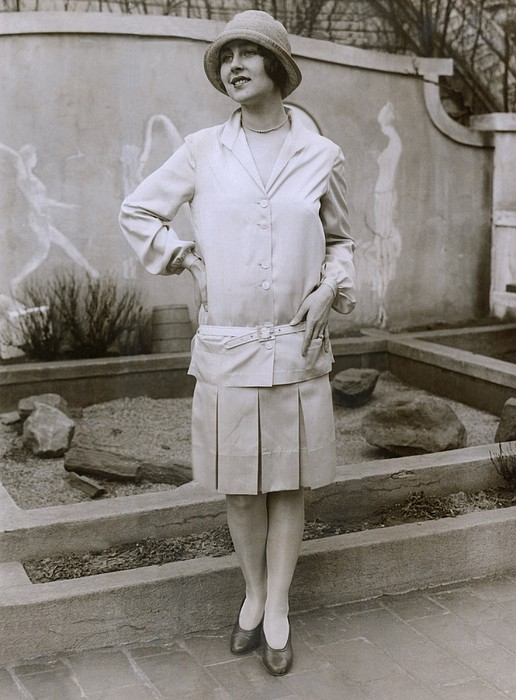 History Photograph - 1927 Suit With A Mid-knee Pleated Skirt by Everett