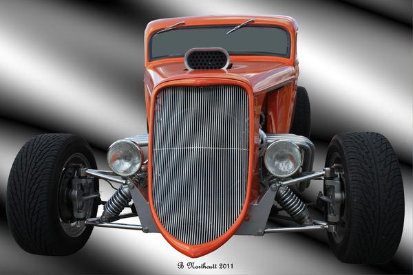 1933 Photograph - 1933 Ford Roadster - Hotrod Version Of Scream by Betty Northcutt