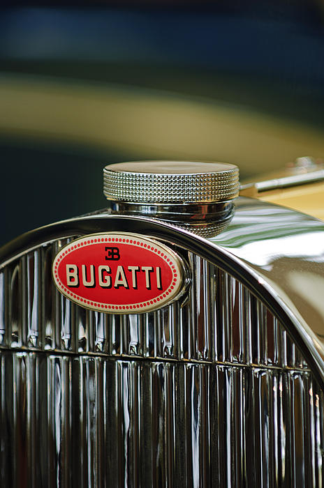 Emblem Photograph - 1935 Bugatti Type 57 Grand Raid Roadster Emblem by Jill Reger