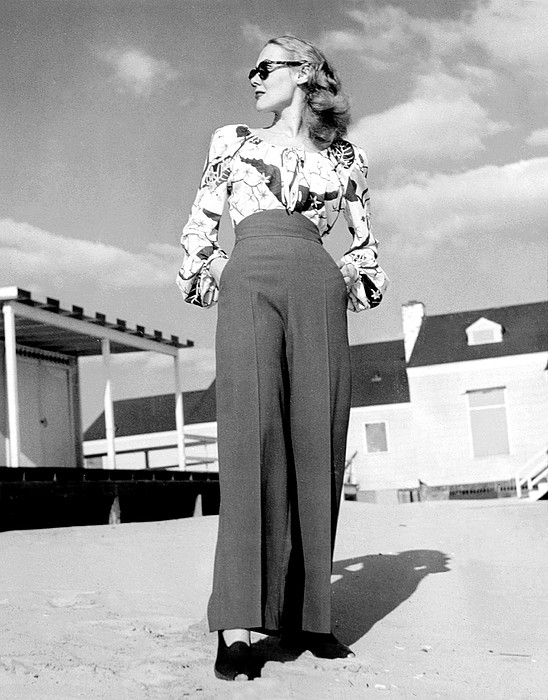 1940s Fashion Photograph - 1940s Fashion A Peasant Top by Everett